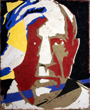 Picasso in a portrait by fabrizio Ruggieor