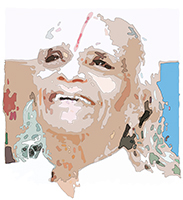 B.K.S. Iyengar at the age of 94